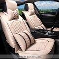 Cubierta de Asiento de lino Respirable para Nissan Teana Sylphy Sunny Murano Xtrail Tiida Qashqai Livina Marzo Quest 5 Asiento Protector m2