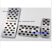 aluminum alloy foot rest plate for new for mitsubishi lancer ex evo 2008-2011 evolving