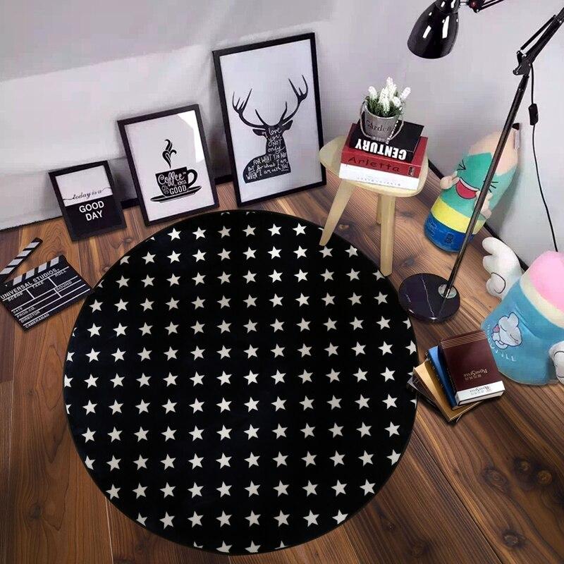 Européen créatif décorations pour la maison circulaire salon tapis capitaine cartoon bleu étoile flanelle couverture chambre lit couverture tapis