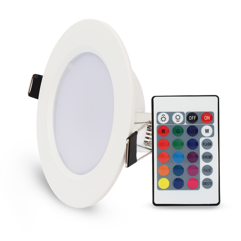 5st / lot 10W 5W RGB LED-panel lampa Rund taklampor med - LED-belysning - Foto 2