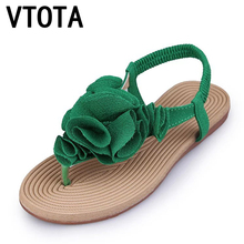 VTOTA Sandales Femmes 2017 Glissement Sur des Chaussures Femme Plat D'été chaussures Femme Plage Bohême Sandalias Mujer Dames Chaussures Flip Flops A10