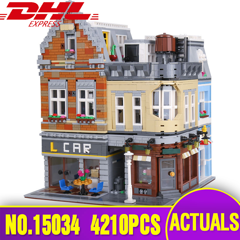 DHL Lepin 15034 Genuine MOC Series The Building City Set Building Blocks Bricks Educational legoing Toys Model Children Gifts a toy a dream lepin 02043 718pcs building blocks bricks new genuine city series airport terminal toys for children gifts