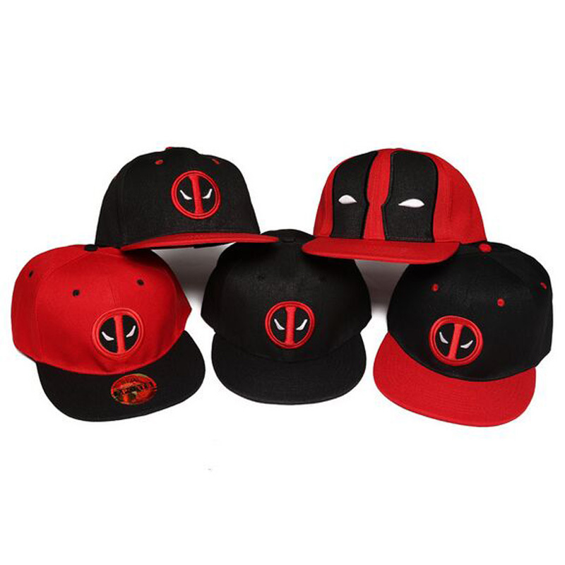 fashion flat brim cap for men women baseball hat deadpool Snapback hat cotton hip hop hats embroidery summer casquette winter unsiex men women cotton blend beret cabbie newsboy flat hat golf driving sun cap