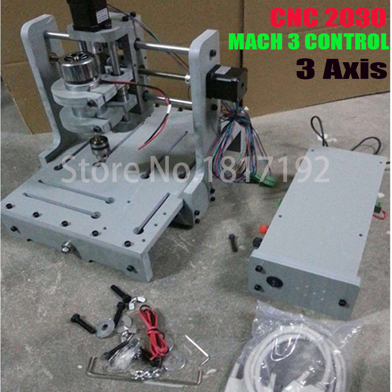 ship DHL Milling Machine 3Axis CNC 2030 DIY CNC Wood Carving Mini Engraving Machine PVC Mill Engraver Support MACH3 System  цены