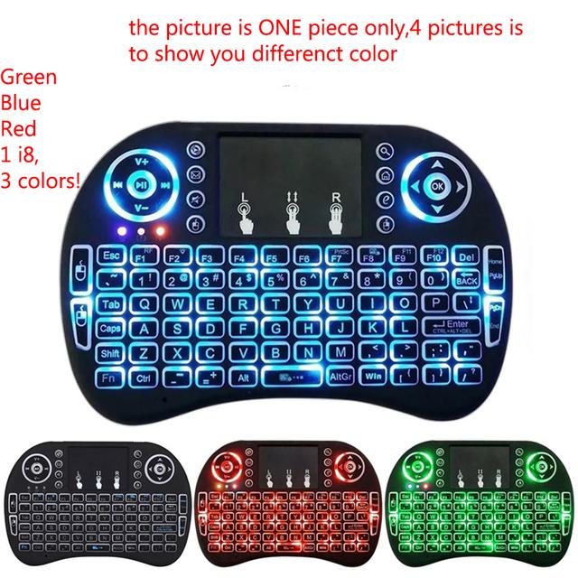 Mini i8 i8 teclado retroiluminación Retroiluminada Ratón aire para M8S Plus T95 S905 S812 Android Smart TV Box PC