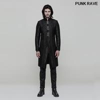 Готический Классический черный Винтаж великолепные Для мужчин длинная куртка викторианской Благородный дворец Свадебные верхняя одежда в