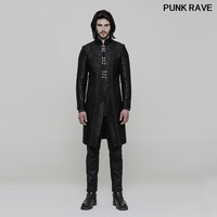 Gothic Classic Black Vintage Gorgeous Men long Jacket Victorian Palace noble Wedding Formal Outwear Coat PUNK RAVE WY 850LCM