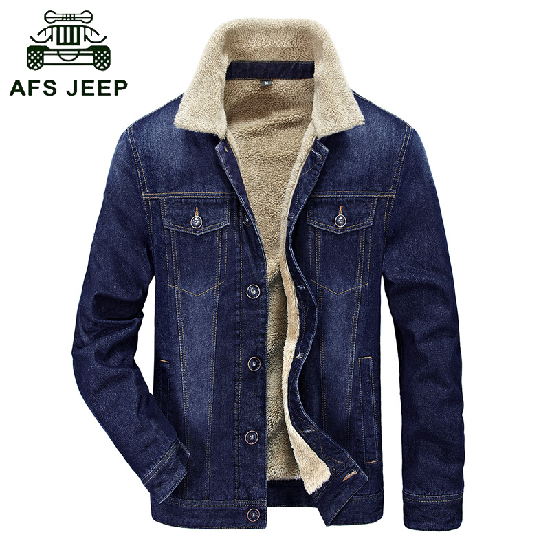 Aliexpress.com  Buy Fur Collar Autumn U0026 Winter Denim Jacket Coat Men Brand Clothing High ...