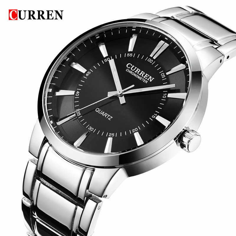 CURREN Sport Watches For Men Waterproof Clock Quartz Watch Men 2016 Top Brand Luxury Full Steel Men Wristwatch Relogio Masculino woonun top famous brand luxury gold watch men waterproof shockproof full steel diamond quartz watches for men relogio masculino
