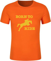 Born To Ride Horse Riding Creative Novelty Printed Men S T Shirt T Shirt For Men