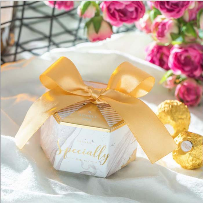 Us 22 5 10 Off 100pcs 50pcs New Creative Wedding Gift Boxes Paper Cake Box Wedding Favors Party Supplies Baby Shower Thanks Candy Boxes In Gift Bags