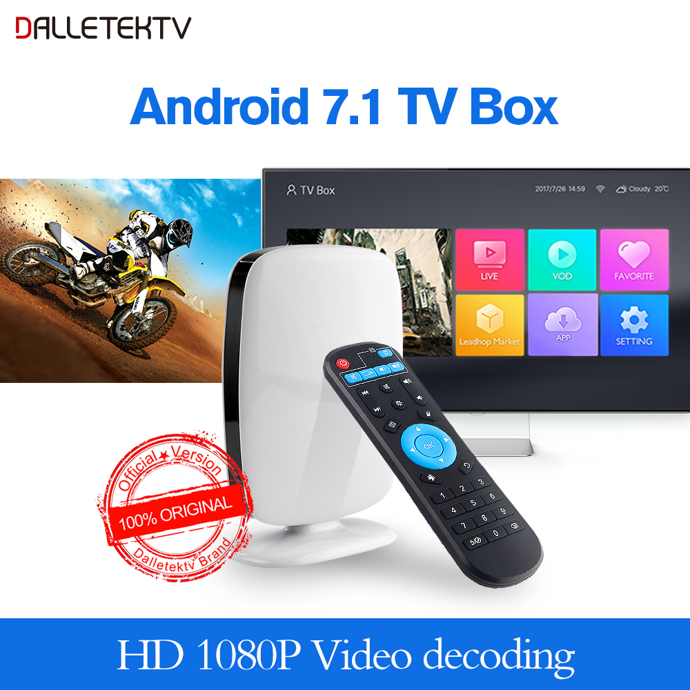 Dalletektv Android 7 1 Smart TV BOX 1GB 8GB RK3229 Quad Core support 4K WiFi Dalletektv