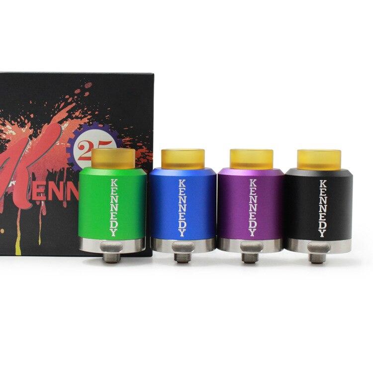 Matériel en aluminium Kennedy 25 RDA Cigarette Électronique 25mm Diamètre Reconstructible Atomiseur ECigs pour Mech Boîte Mécanique Mod Vaporisateur