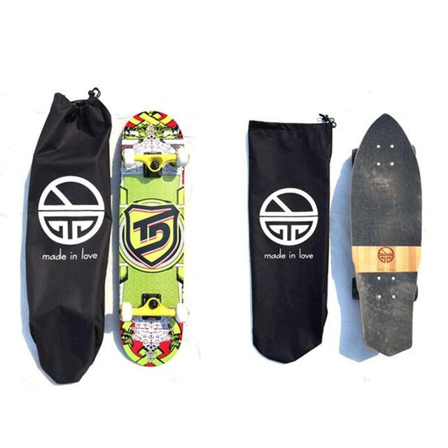 Skateboard Backpacks Single Shouler Double Rocker Bag Fishboard Penny Board Carrying Bags With Drawstring