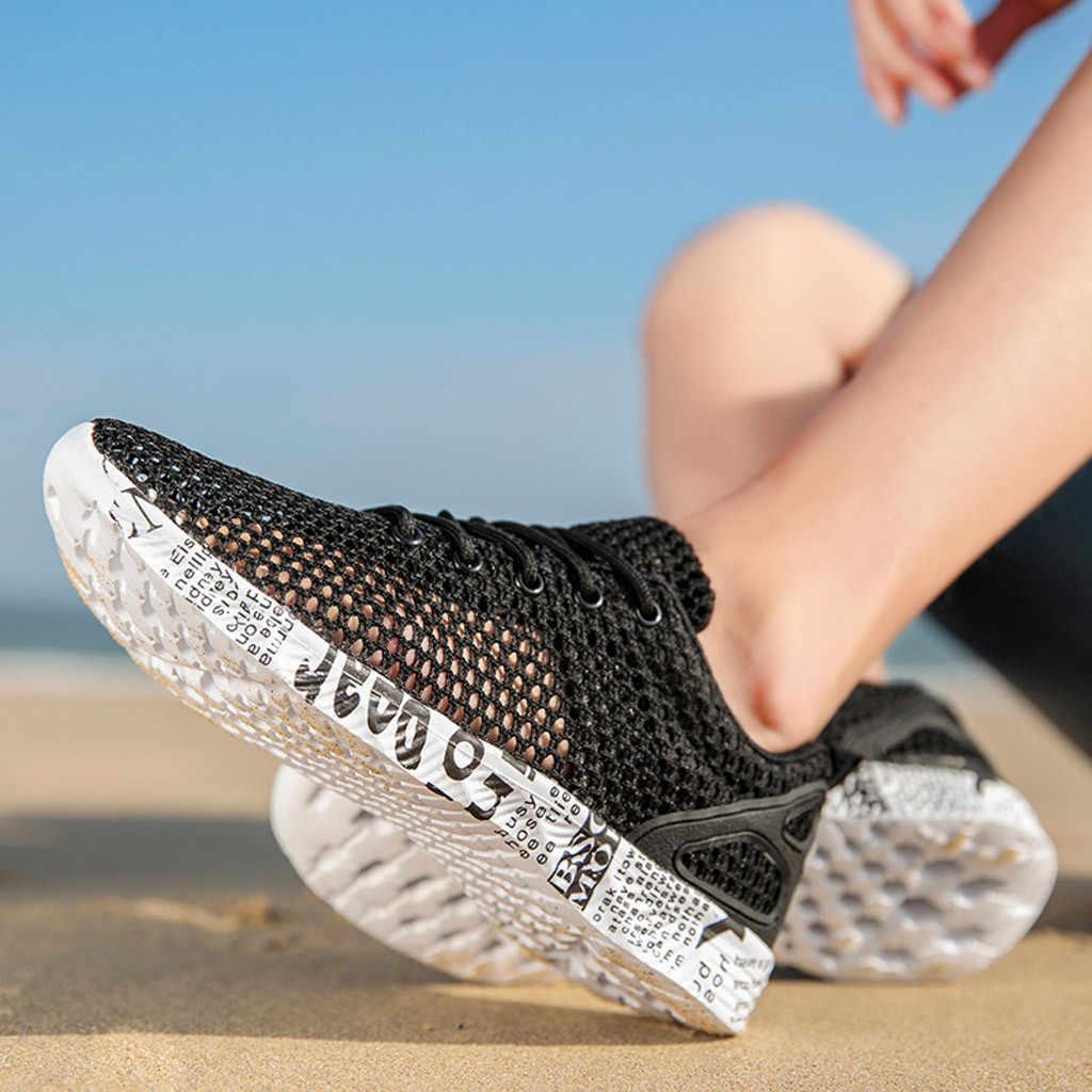 CHAMSGEND erkek açık ayakkabı örgü ajur nefes hafif kaymaz memba ayakkabı sahil hızlı girişim ayakkabı