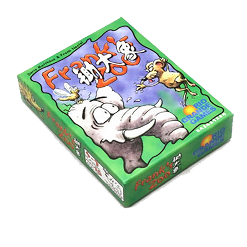 3-7 Players  Frank Zoo Cards Game Board Game  Funny Transactions Metting Game Chinese Version Send Free English Instructions