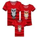 2016 nueva summer family clothing estilo animal de la manera de la familia camisetas ocasionales 813 pantalones cortos de color fit mun papá hijo e hija