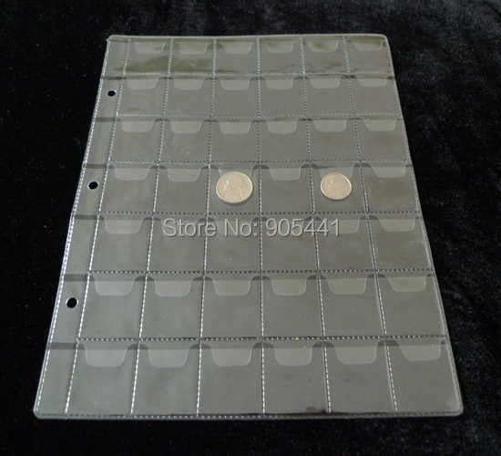 32*28mm 10 Pcs Album Pages 42 Pockets Money Coin Note Currency Holder For Coin And Money Collection Free Shipping Wholesale