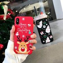 3D Cartoon TPU phone Case for iphone 6 6s 7 8 Plus X Santa C
