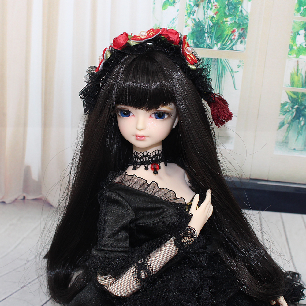 MMGIRL BJD DOLL forturn days 1/4 45cm sweet girl with makeup hair black hair with/without outfits shoes df wallace girl with curious hair paper
