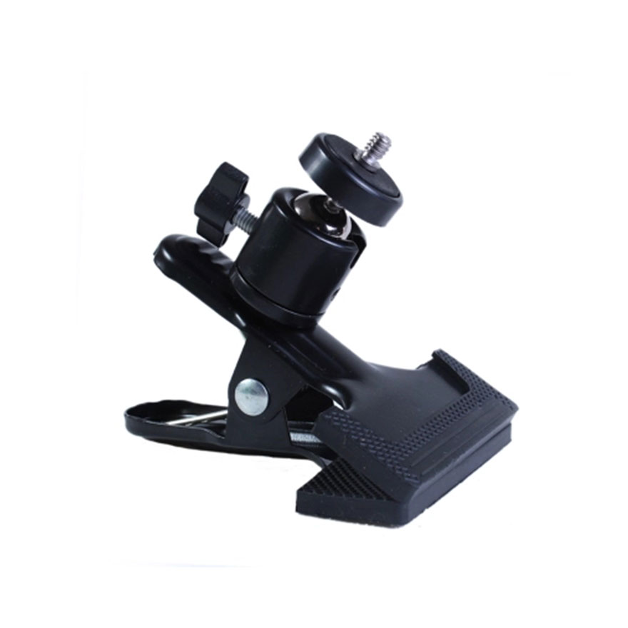 Universal Photography Light Stand Clip Camera Holder Metal Grip Clamp Mount With Standard Ball Head 1/4 Screw For Studio Camera