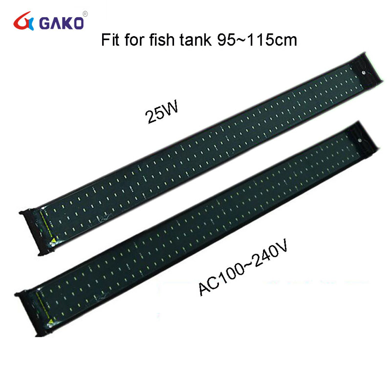 95~115Cm 2 Modes 144 LED Bright Aquarium Fish Tank Smd Led Light Lamp Marine Lighting Aquario