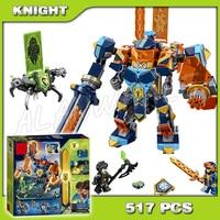 517pcs Knights Tech Wizard Showdown Clay Battle Suit Monstrox 10817 Model Building Blocks Toys Bricks Nexus Compatible with Lego