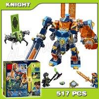 517pcs Knights Tech Wizard Showdown Clay Battle Suit Monstrox 10817 Model Building Blocks Toys Bricks Nexus Compatible With