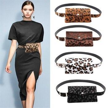 Sleeper #401 2018 NEW FASHION Women Leopard Horse Hair Decorative Pockets Dual-use Mobile Phone Bag Purse casual Drop Shipping