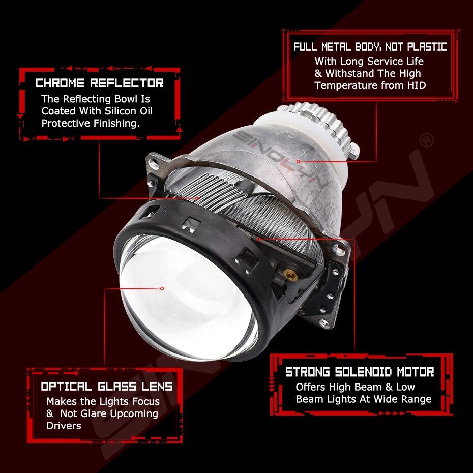 Upgrade 3.0 D2S 4.0 Bi-xenon Projector Lenses Car Accessories For H4 Headlight Retrofit Automobiles DIY Brighter Than Koito Q5