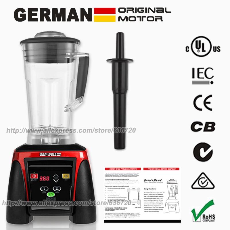 BPA-Free German motor technology, 2200 Watt Blender Professional Smoothie Maker glantop 2l smoothie blender fruit juice mixer juicer high performance pro commercial glthsg2029