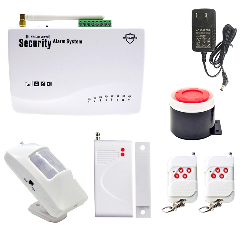 DANMINI Wireless GSM Alarm System Home Wireless Security Alarm System Remote Control PIR/Door Sensor Security Alarm Siren Kit wireless alarm accessories glass vibration door pir siren smoke gas water sensor for home security wifi gsm sms alarm system