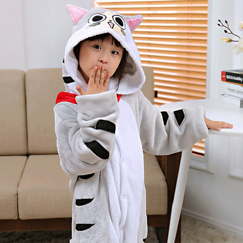 Kigurumi New Hoodie Children Pajamas Winter Flannel Cartoon Cat Kid Boy Girl  Pijama Baby Cosplay Pyjama Sleepwear One Piece - aliexpress.com - imall.com d6407c6db
