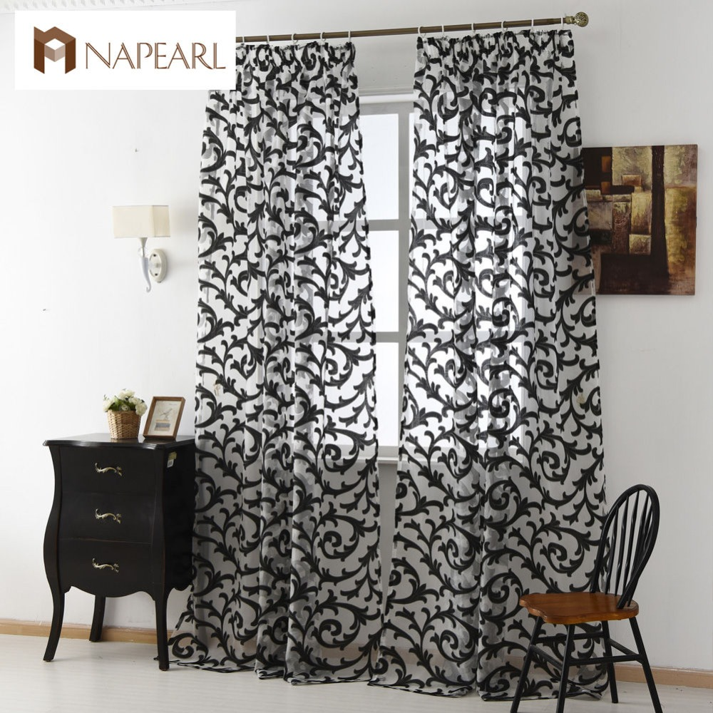 Flat panel curtains - European Style Sheer Curtain Home Tulle Panel Living Room Drapes Curtains Window Treatments Brand New Jacquard