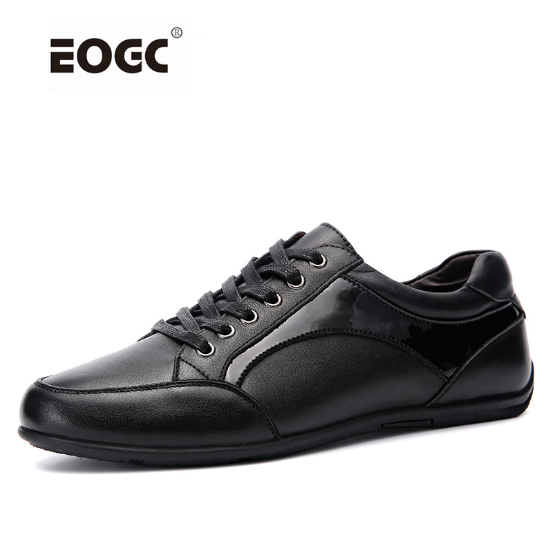 Men Fashion Sneakers, Fashion Casual Men Shoes Flats, Genuine Leather Lace Up Leather Casual Shoes