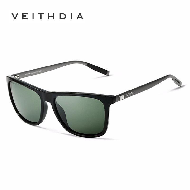 Kapal Dari Rusia Merek Unisex Aluminium + TR90 Kacamata VEITHDIA  Terpolarisasi Lens Vintage Eyewear Sun Glasses Untuk Pria Wanita 6108 di Kacamata  Hitam ... f6de3b2098
