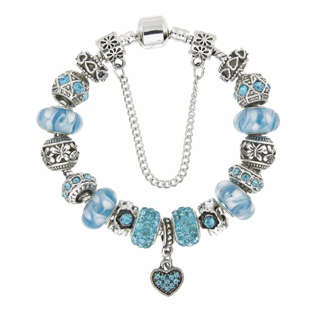 New fashion high quality trendy jewelry custom charm heart zircon pendant Bracelet & Bangle for women birthday gift KM168