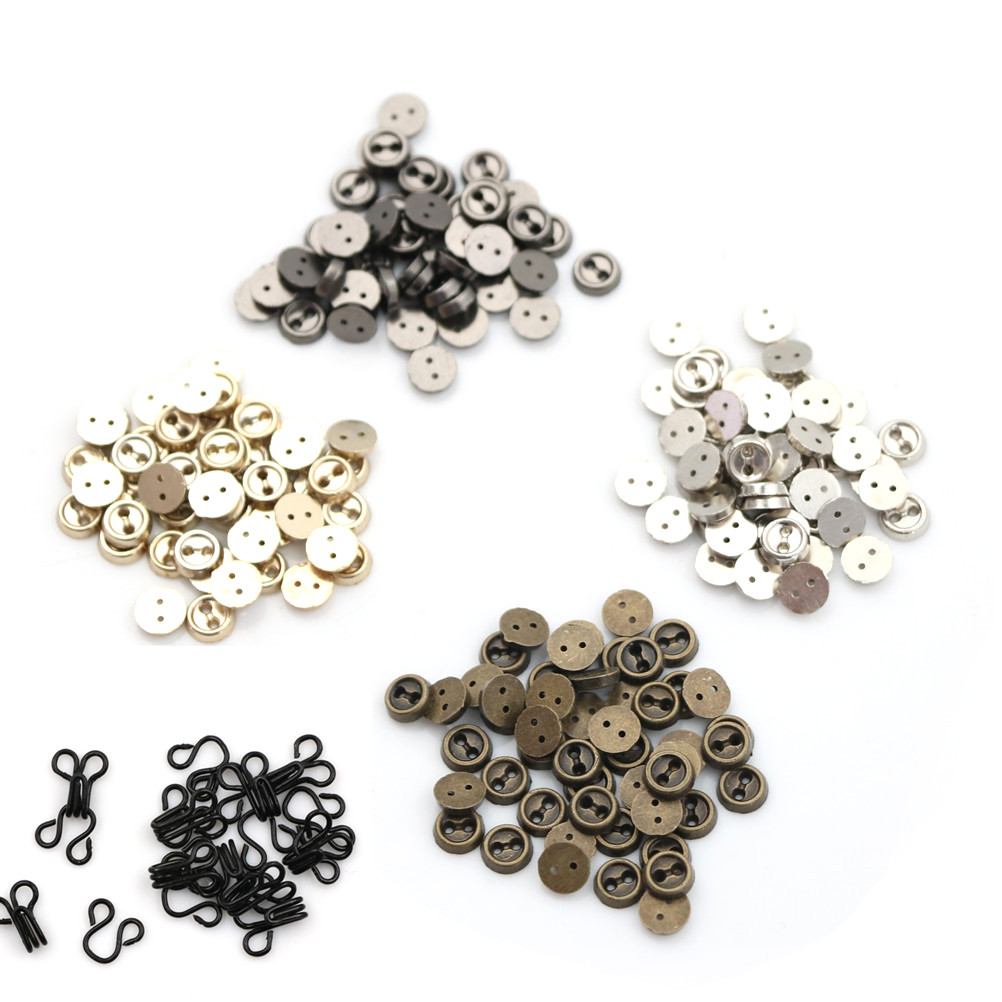 10/50pcsdoll Buckle About 5/6CM Diy Bjd Blyth Shoes Accessories Mini Ultra-Small Japanese Metal Buckle Belt Shoes