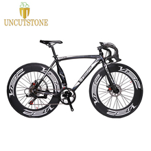 VISP Road Bike  48cm 51cm 54cm frame 700C bike 90mm Rim Bike Speed Road Bicycle Disc Brake  Road Cycling 14 speed Bike