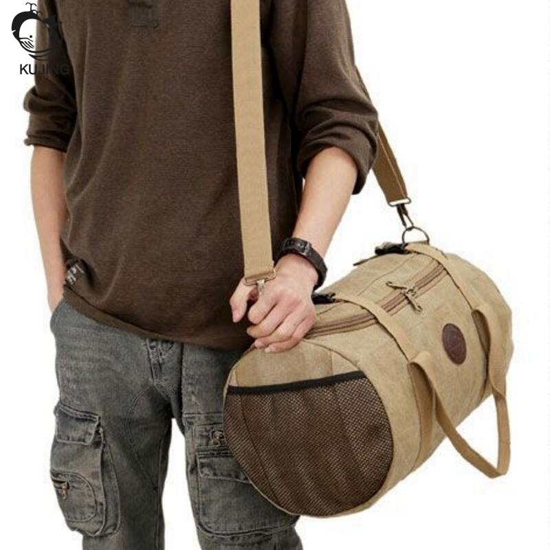 KUJING leisure men bag free shipping large capacity wear high-end handbag multi-purpose travel travel shoulder Messenger bag kujing canvas men s bag high quality cowboy large capacity travel men handbag retro shoulder messenger bag luxury men casual bag