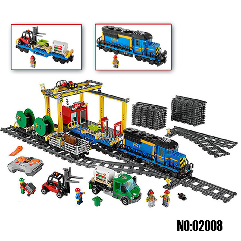 Lepin City Series the Cargo Train Set Building Blocks Bricks Toys for Children Compatible with Legoingly 60052 RC Train as Gifts lepin 02015 456pcs city series train station car styling building blocks bricks toys for children gifts compatible 60050