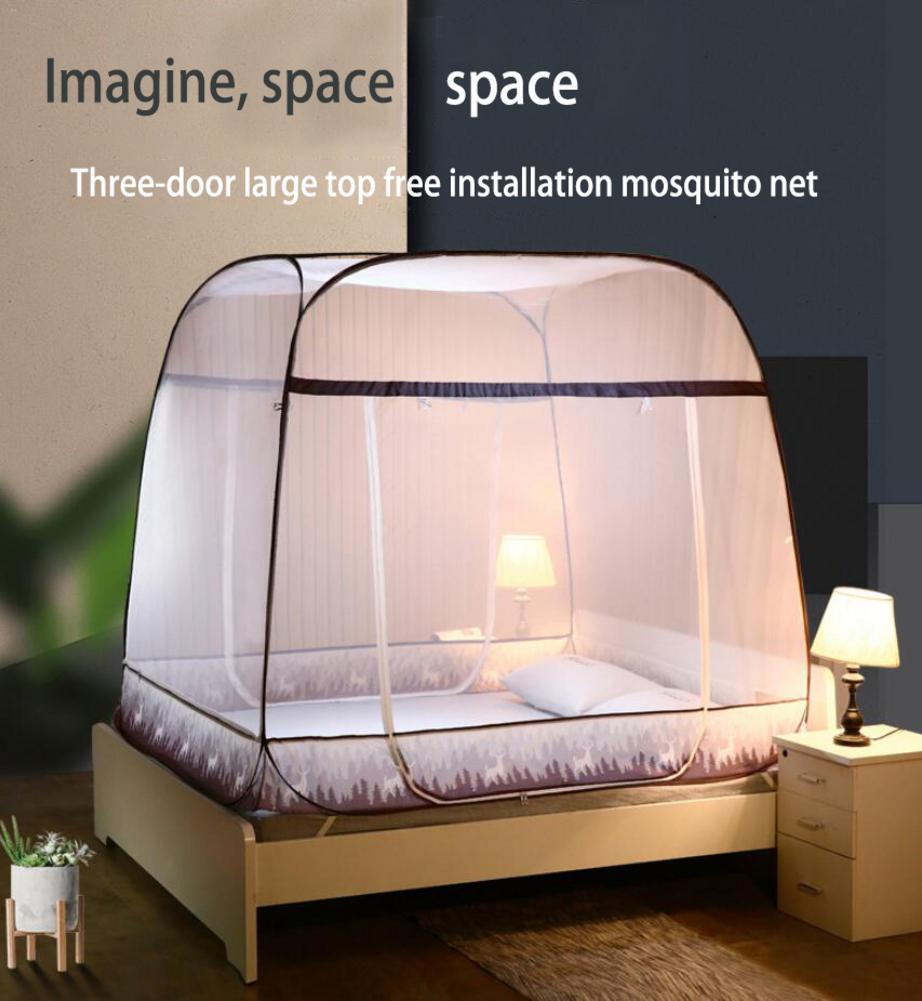 Moustiquaire Pop-Up tente pliante mongolie sac moustiquaire maille pour lits Anti moustique piqûres conception pliante avec fond Net