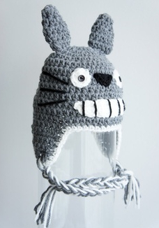Free Shipping Cartoon Character Crochet Knitted Hat Baby Girls Totoro Hat  Kids Headwear Winter Children s Beanie Earflaps Cotton-in Hats   Caps from  Mother ... ea8f33124f6