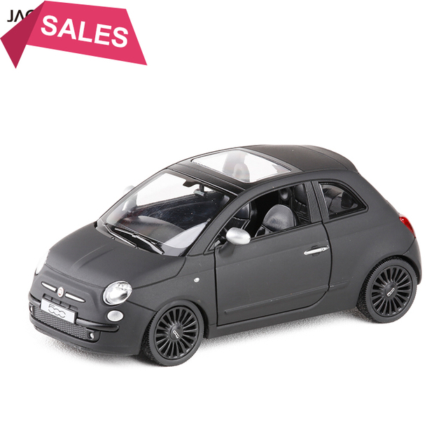 1 36 Scale Italy Fiat 500 Diecast Metal Matte Black With Pull Back