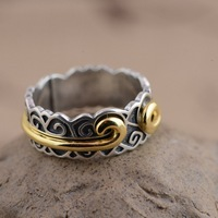 Wholesale silver S925 Silver Handmade Silver Ring monkey inhibition ring detachable NEW