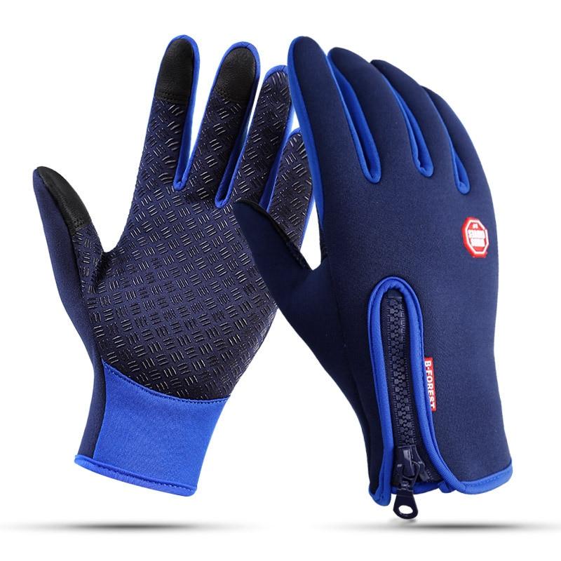 Зимние лыжные перчатки с сенсорным экраном для мужчин и женщин, водонепроницаемые перчатки для сноуборда, мотоцикла, езды по снегу, ветроза...
