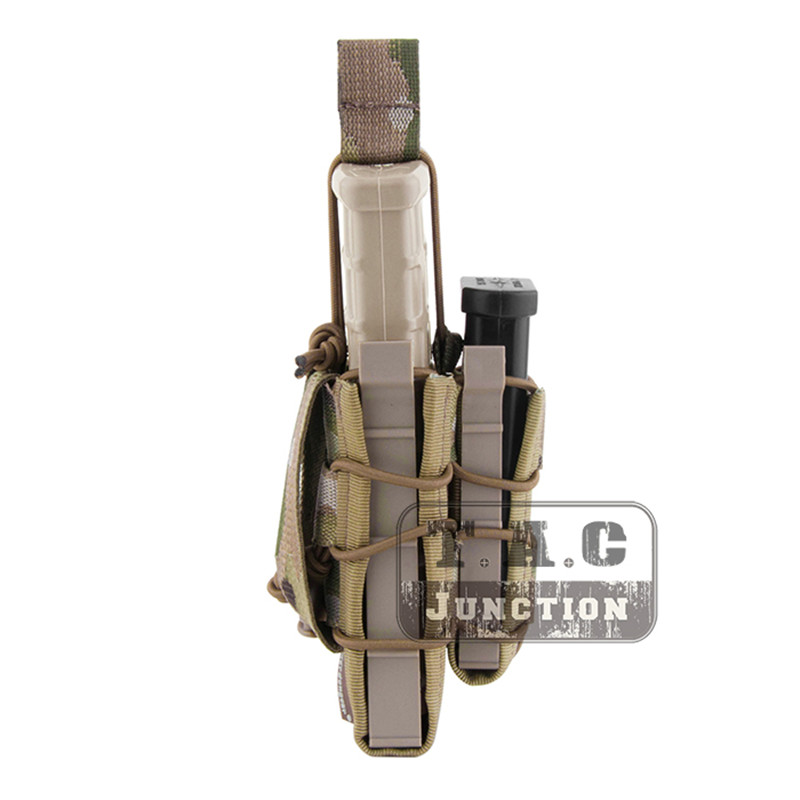 Image 3 - Emerson Double Layer Modular Magazine Pouch For 5.56 .223 & 9mm Emersongear MOLLE Mag Pouch Mag Carrier Camouflage Military-in Pouches from Sports & Entertainment