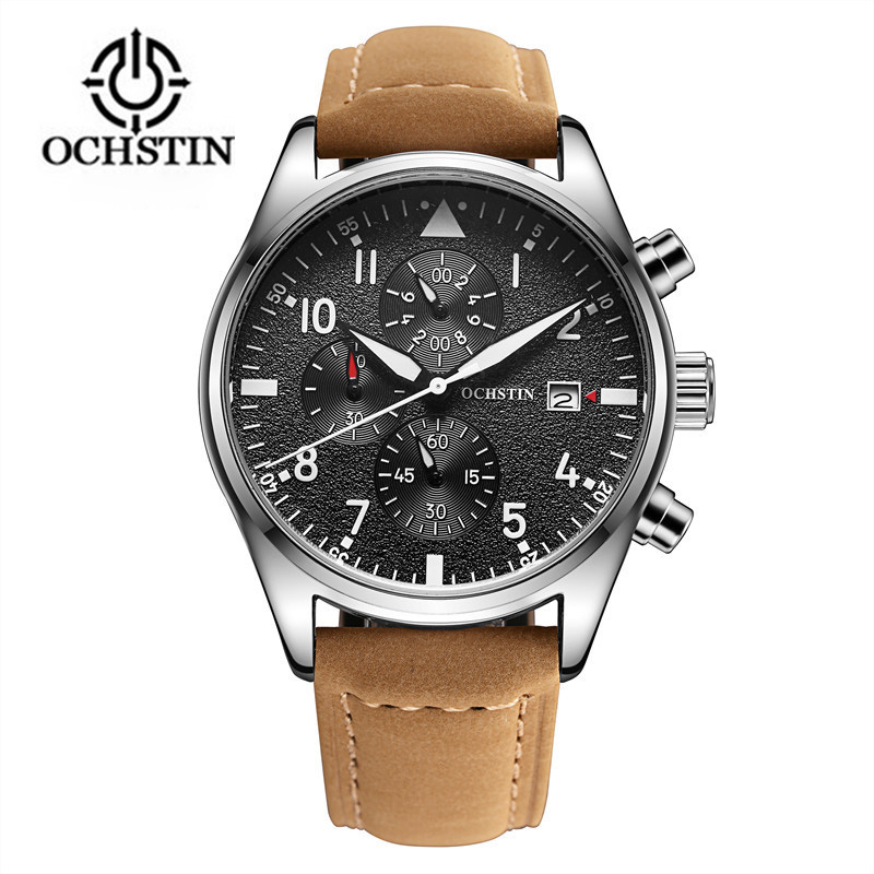 2017 Mens Business Watches Top Brand Luxury Chronograph Watch Sport Quartz Wrist Watch Men Clock Male relogio erkek kol saati megir relogio masculino top brand luxury men watch leather strap chronograph quartz watches clock men erkek kol saati mens 2012