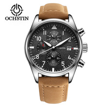 2017 Mens Business Watches Top Brand Luxury Chronograph Watch Sport Quartz Wrist Watch Men Clock Male