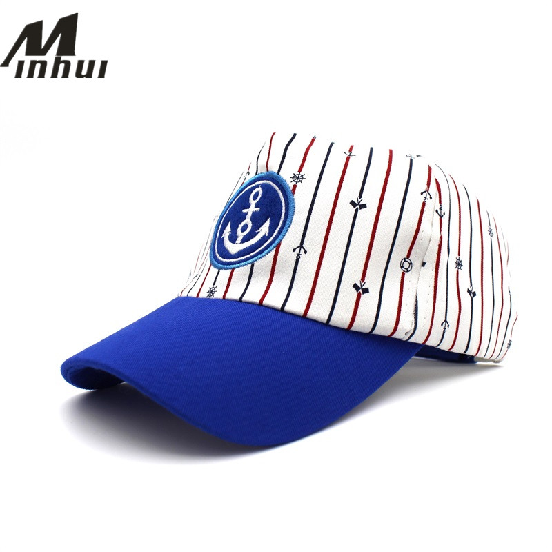 Minhui 2017 New Kids Baseball Caps Fashion Striped Hats for Boys and Girls Sun Hat Snapback Baby Cap вытяжка elikor каминная эпсилон 50п 430 п3л медный антик золото зв 430 50 58 медный антик золото